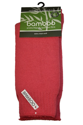 Bamboo socks - Extra thick - M 6-10; W 8-11 - Watermelon