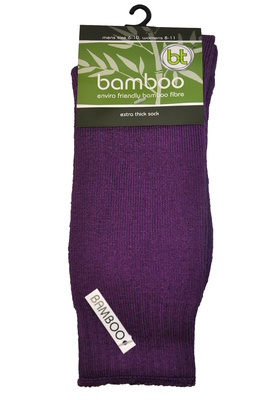 Bamboo socks - Extra thick - M 10-14 - Purple