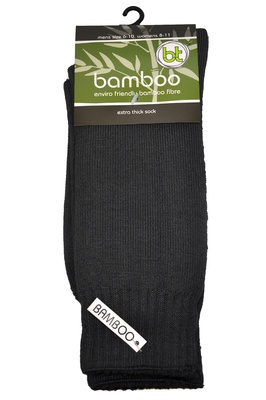 Bamboo socks - Extra thick - M 4-6; W 6-8 - Slate