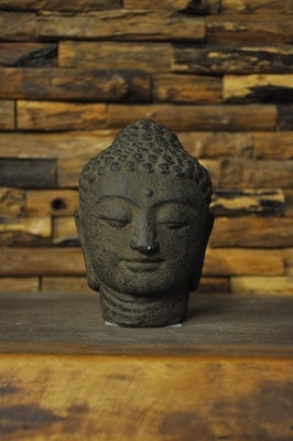 Small Buddha head - 12cm - BLACK/BROWN