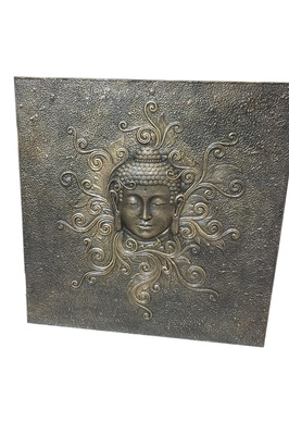 Serenity Buddha Relief - Black Gold