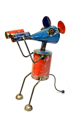 Metal art - Large - Mouse with binoculars