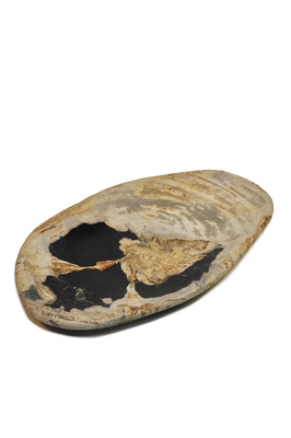 Petrified wood platter - 40cm