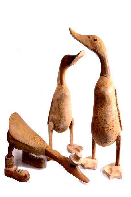 Bamboo ducks (natural)