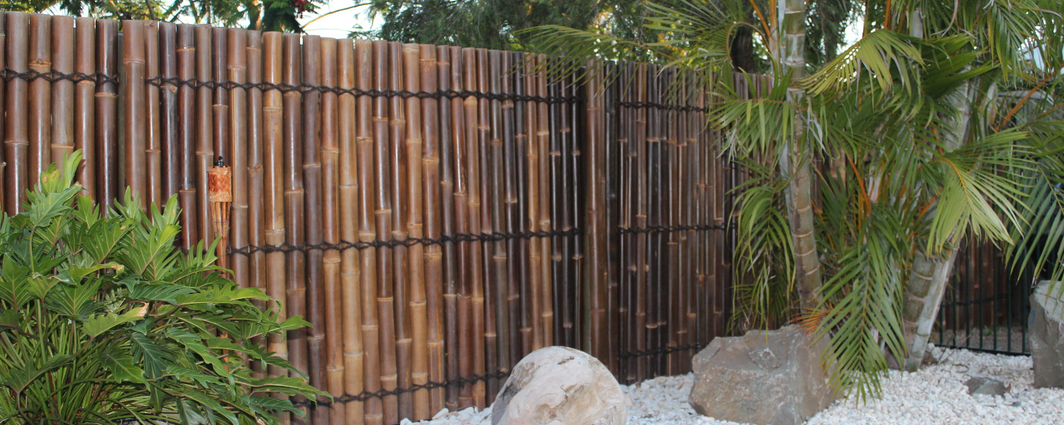 Bamboo fencing and screening