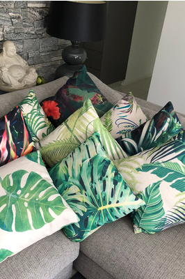 Tropical print cushion - 40 x 40cm