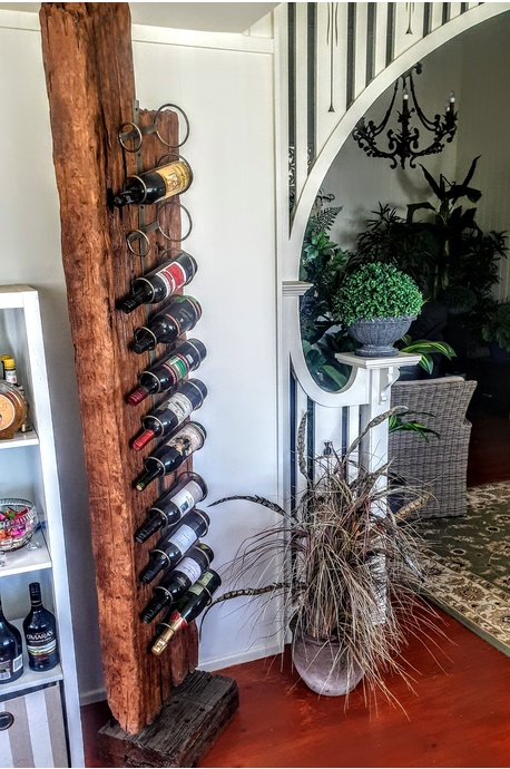Railway sleeper wine rack - 12 bottle